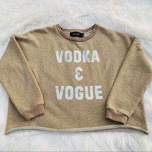Tops - MinkPink Vodka & Vogue Cropped Sweatshirt